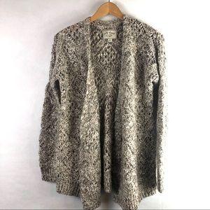 Lucky brand cozy chunky cardigan sweater open